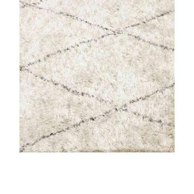 Shaggy Moroccan Bohemian Shaggy Moroccan Linen 8 ft. x 10 ft. Hand-Knotted Area Rug