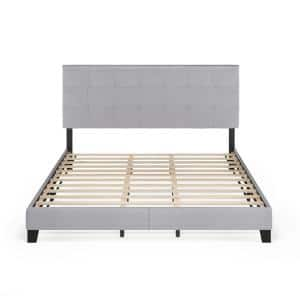 Laval Glacier California King Button Tufted Bed Frame