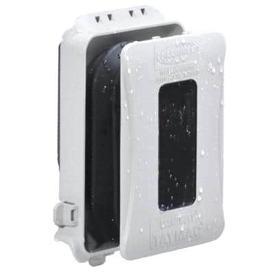 1-Gang White Weatherproof In-Use Cover