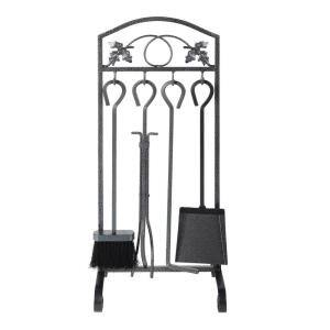 12 in. 4-Piece Fireplace Tool Rack