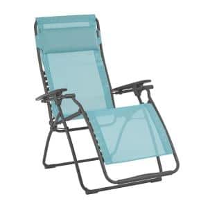 Futura in Lac Color Steel Frame Reclining Zero Gravity Lawn Chair