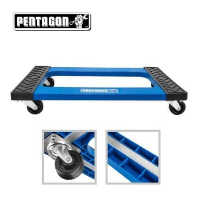 Heavy Duty Plastic Wheeled Furniture Mover Dolly in Blue
