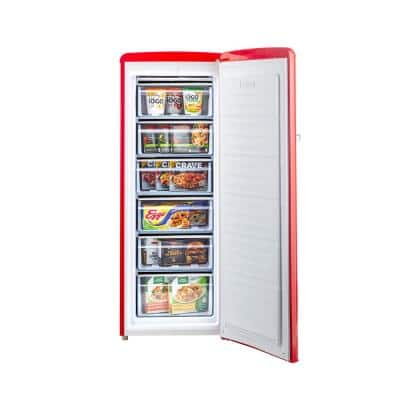 Retro 6 cu. Ft. ENERGY STAR Upright Freezer in Red