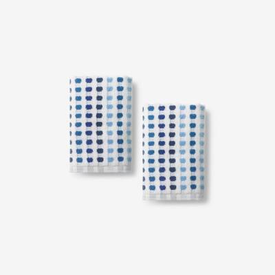 Spectrum Blue Geometric Cotton Wash Cloth