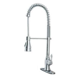 Kitchen Series Single-Handle Spring-Style Pull-Down Sprayer Kitchen Faucet in Chrome