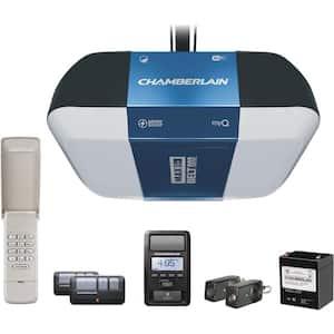1-1/4 HP Equivalent Corner to Corner LED Lighting Ultra-Quiet Belt Drive Smart Garage Door Opener with Battery Backup