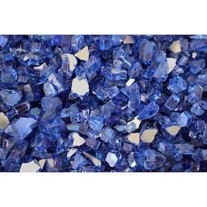 10 lbs. Bag Reflective Fire Pit Fire Glass in Cobalt Blue