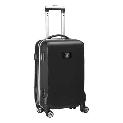 NFL Oakland Raiders Black 21 in. Carry-On Hardcase Spinner Suitcase