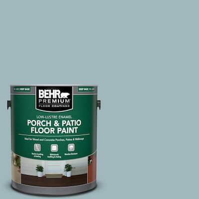 Behr Premium 1 Gal Osha 1 Osha Safety Blue Low Lustre Enamel Interior Exterior Porch And Patio Floor Paint 630001 The Home Depot