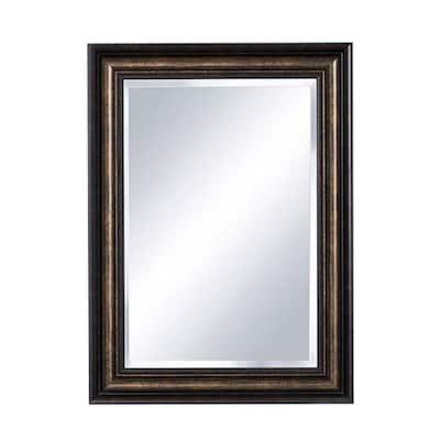 Dundee 22.25 in. x 30.25 in. Framed Mirror Surface-Mount Medicine Cabinet in Dark Espresso