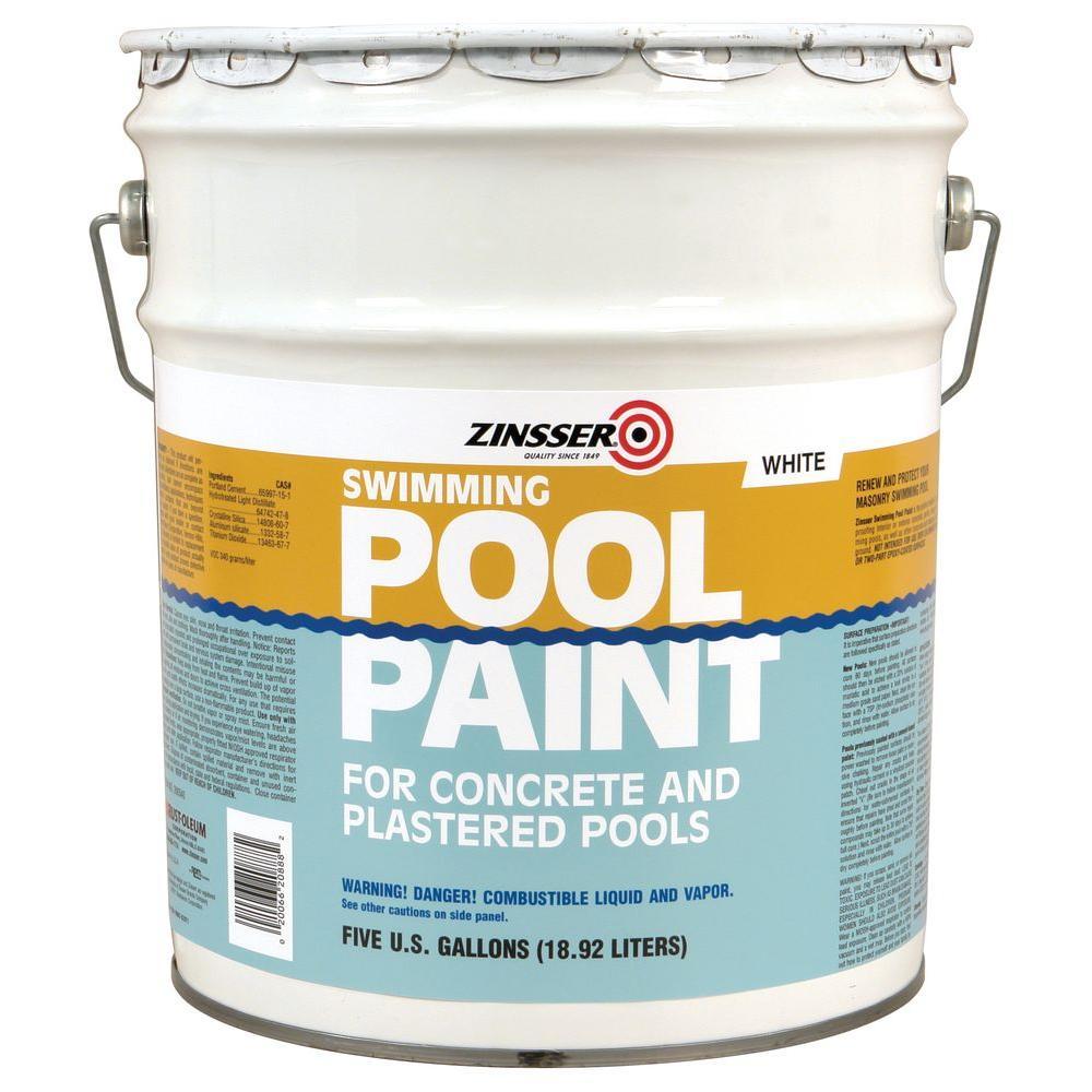 5 gal. White Flat Oil-Based Swimming Pool Paint