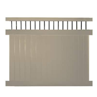 Bradford 5 ft. H x 8 ft. W Khaki Vinyl Privacy Fence Panel Kit