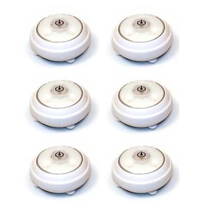 LED White Puck Light (6-Pack)