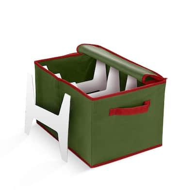 10 in. Green Non-Woven Christmas Light Storage Box (800 Light Bulbs)