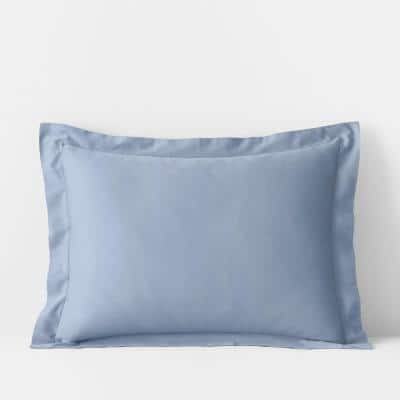 Misty Blue Solid 300-Thread Count Bamboo Cotton Sateen King Sham