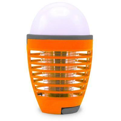 7 in. White 2-in-1 Rechargeable Bug Zapper, Mosquito Killer Light Bulb for Indoor and Outdoor