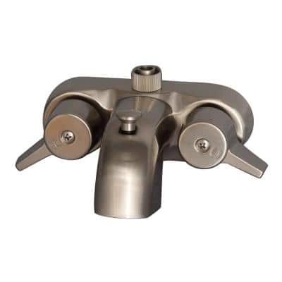 2-Handle Claw Foot Tub Faucet in Brushed Nickel