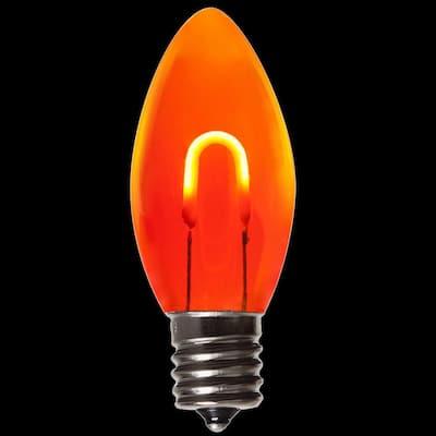 FlexFilament C9 LED Shatterproof Orange Vintage Edison Christmas Light Bulbs (5-Pack)