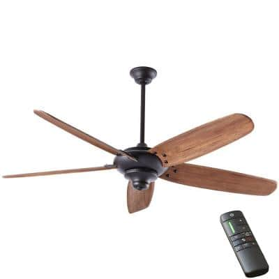 Altura DC 68 in. Indoor Matte Black Dry Rated Ceiling Fan with Downrod, Remote Control and DC Motor