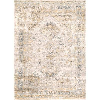 Shaunte Faded Vintage Gold 5 ft. x 8 ft.  Area Rug