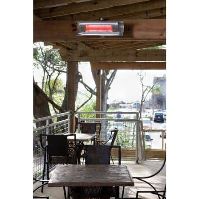 1,500-Watt Stainless Steel Wall Mounted Infrared Electric Patio Heater