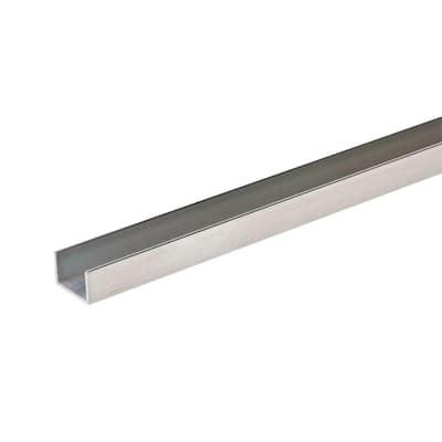 1/2 in. W x 1/2 in. H x 96 in. L Aluminum C-Channel with 1/16 in. Thick