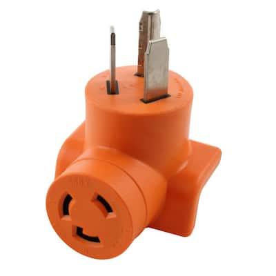 30 Amp 3-Prong 10-30P Dryer Plug to L6-30R 30 Amp 250-Volt Locking Female Adapter