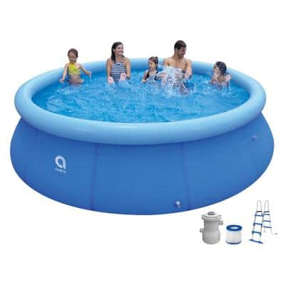 Outdoor Backyard 12 ft. Round 36 in. Inflatable Pool