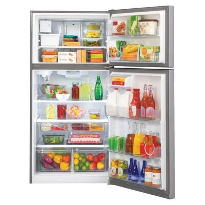 23.8 cu. ft. Top Freezer Refrigerator with Reversible Door, Internal Water Dispenser and Ice Maker in Stainless Steel