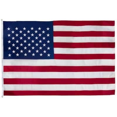 8 ft. x 12 ft. Spun Polyester Large Commercial United States Flag