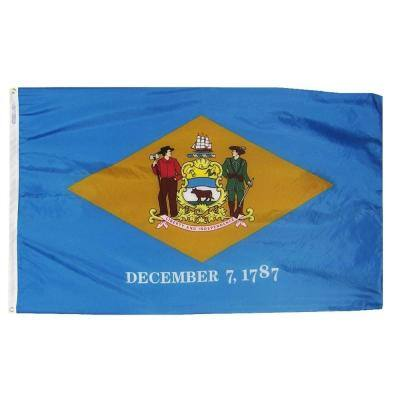 5 ft. x 8 ft. Nylon Delaware State Flag