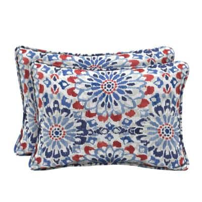 22 x 15 Clark Oversized Lumbar Outdoor Throw Pillow (2-Pack)