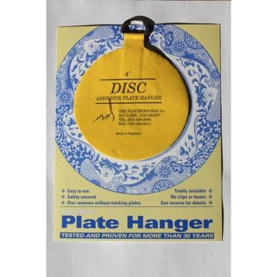 4 in. Invisible Disc Plate Hangers (10-Pack)