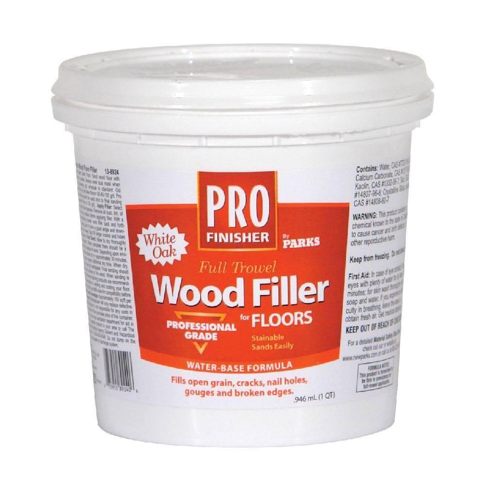 Rust-Oleum Parks Pro Finisher1 qt. White Oak Matte Full Trowel Wood Filler (6-Pack)