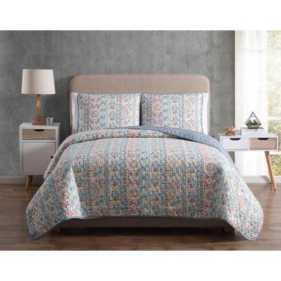 Mhf Home Colleen Twin Floral Quilt Set
