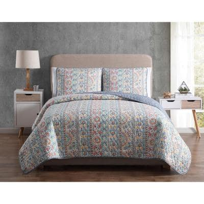 Mhf Home Colleen King Floral Quilt Set