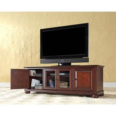Alexandria 60 in. Mahogany Wood TV Stand Fits TVs Up to 60 in.