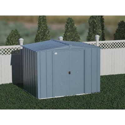 Classic 8 ft. W x 6 ft. D Blue Grey Steel Storage Shed