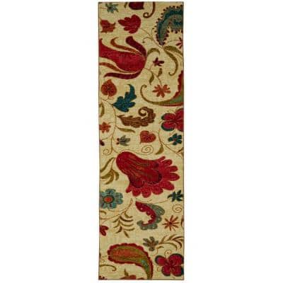 Tropical Acres Multi 2 ft. x 5 ft. Indoor Runner Rug
