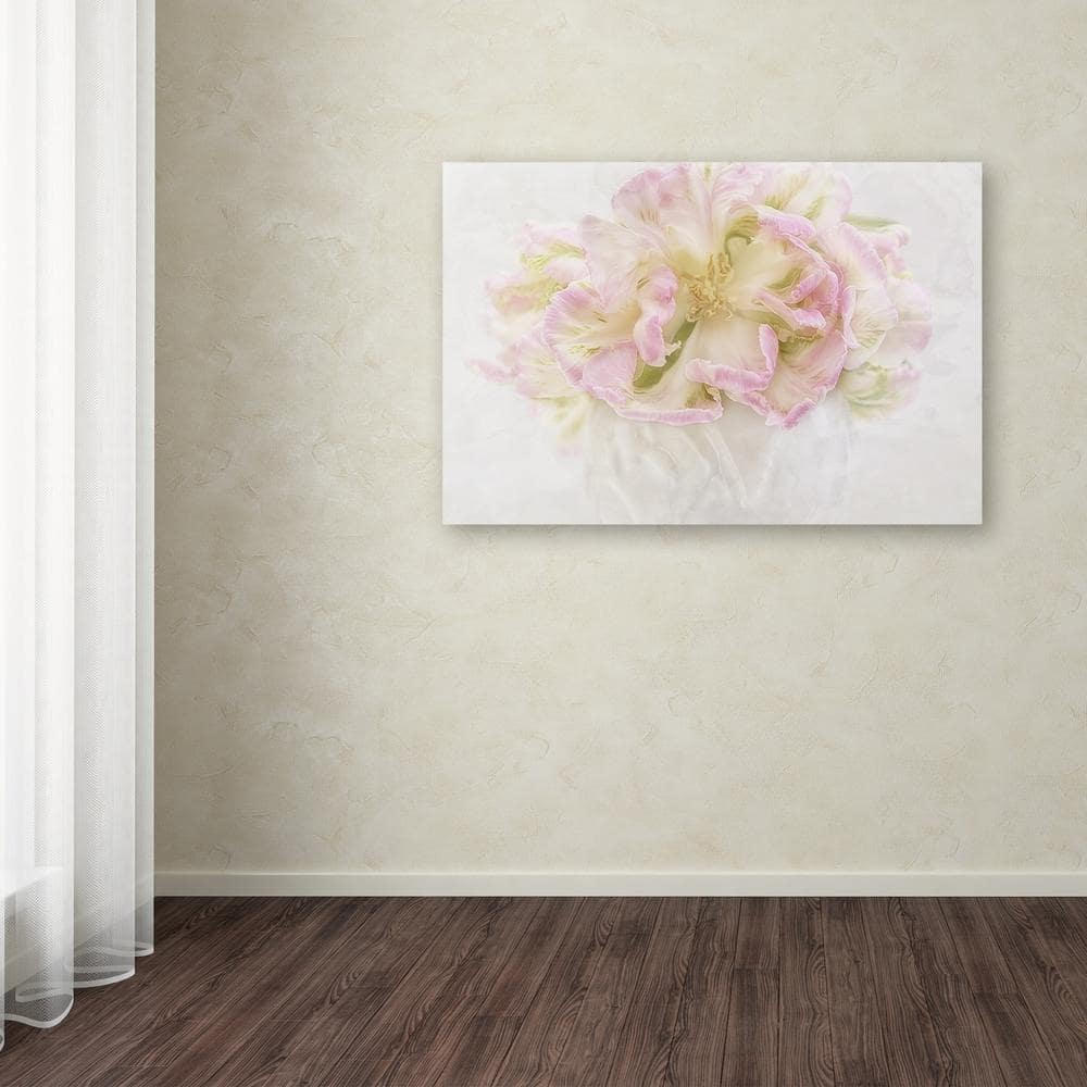 Trademark Fine Art 16 In X 24 In Pink Parrot Tulips Bouquet By Cora Niele Printed Canvas Wall Art Ali1868 C1624gg The Home Depot