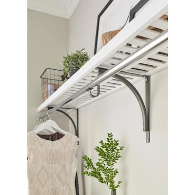 White Ventilated Shelf Kit 48 in. W x 12 in. D