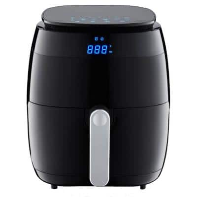 5 Qt. Black Air Fryer with Duo Touchscreen Display