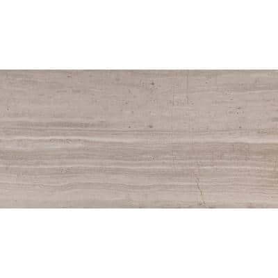 White Oak 12 in. x 24 in. Honed Floor and Wall Marble Tile (10 sq. ft./Case)