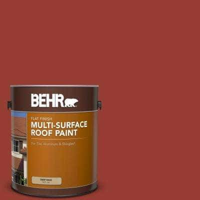1 gal. #PPU2-17 Morocco Red Flat Multi-Surface Exterior Roof Paint
