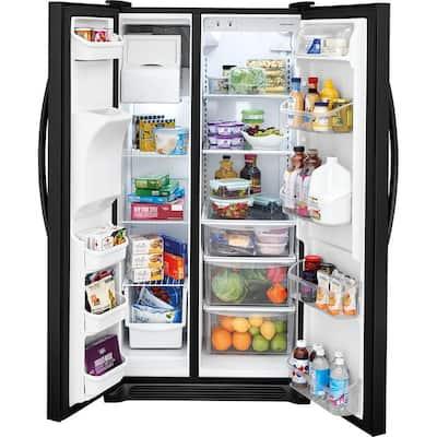 22.1 cu. ft. Side by Side Refrigerator in Black
