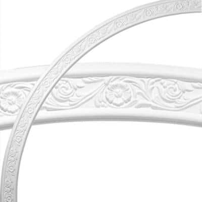 74-3/4 in. Medway Floral Ceiling Ring (1/4 of Complete Circle)