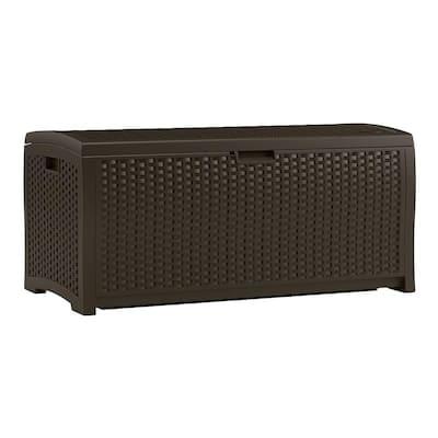 Wicker 73 Gal. Resin Deck Box