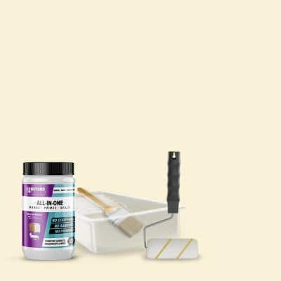 1 qt. Off White Furniture Cabinets Countertops and More Multi-Surface All-in-One Interior/Exterior Refinishing Kit