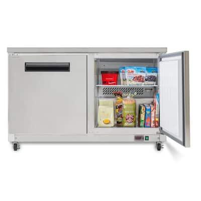 X-Series 12 cu. ft. Double Door Undercounter Commercial Freezer in Stainless Steel