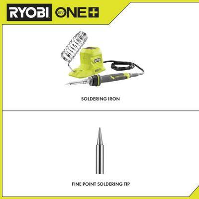 ONE+ 18V 40-Watt Soldering Iron (Tool-Only) with extra Fine Point Soldering Tip
